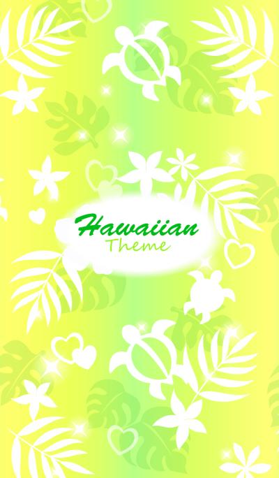 HawaiianTheme4 Yellow green