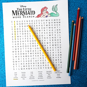 Little Mermaid Word Search