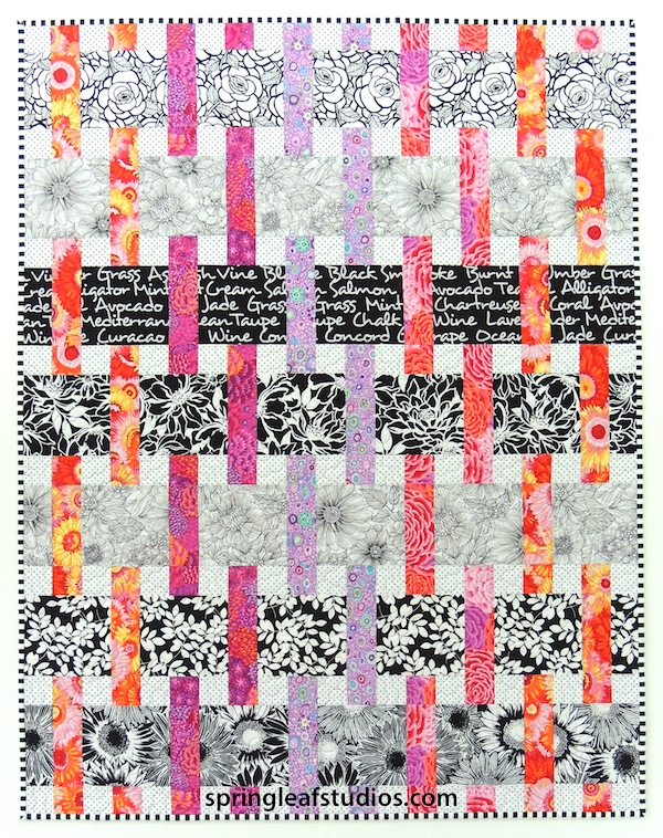 Interweave quilt pattern with Kaffe Fassett