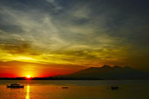 sunset di gili air, foto sunset di lombok, fotografi sunset, wisata lombok