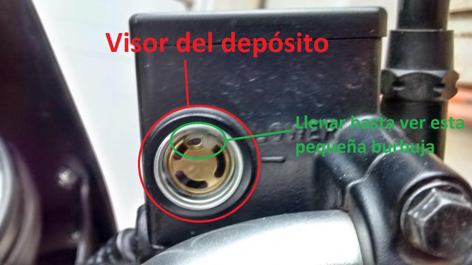 Visor bomba de freno moto