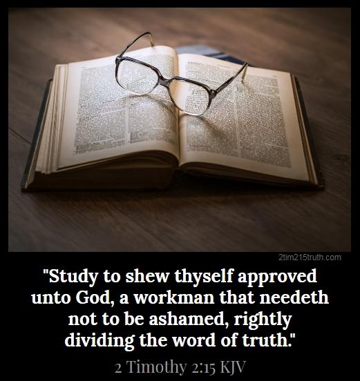 2 Timothy 2:15 Truth: January 2019