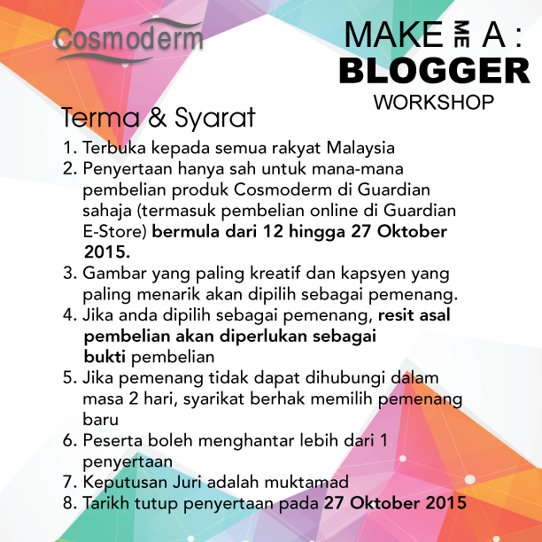 ❤ Make Me A Blogger Workshop Contest With Guardian ❤