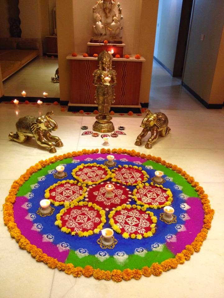 New Year 2015 Rangoli 3