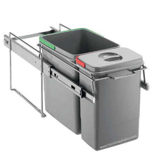 Cubo residuos extraible ecomini tu cocina y ba o - Cubo basura puerta ...