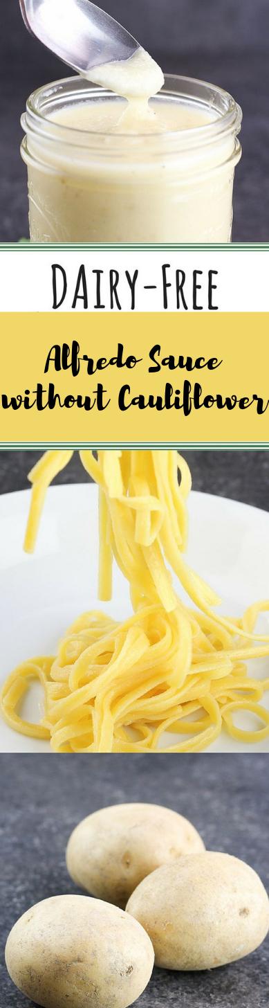 Dairy-free Alfredo Sauce Without Cauliflower #cauliflower #dinner
