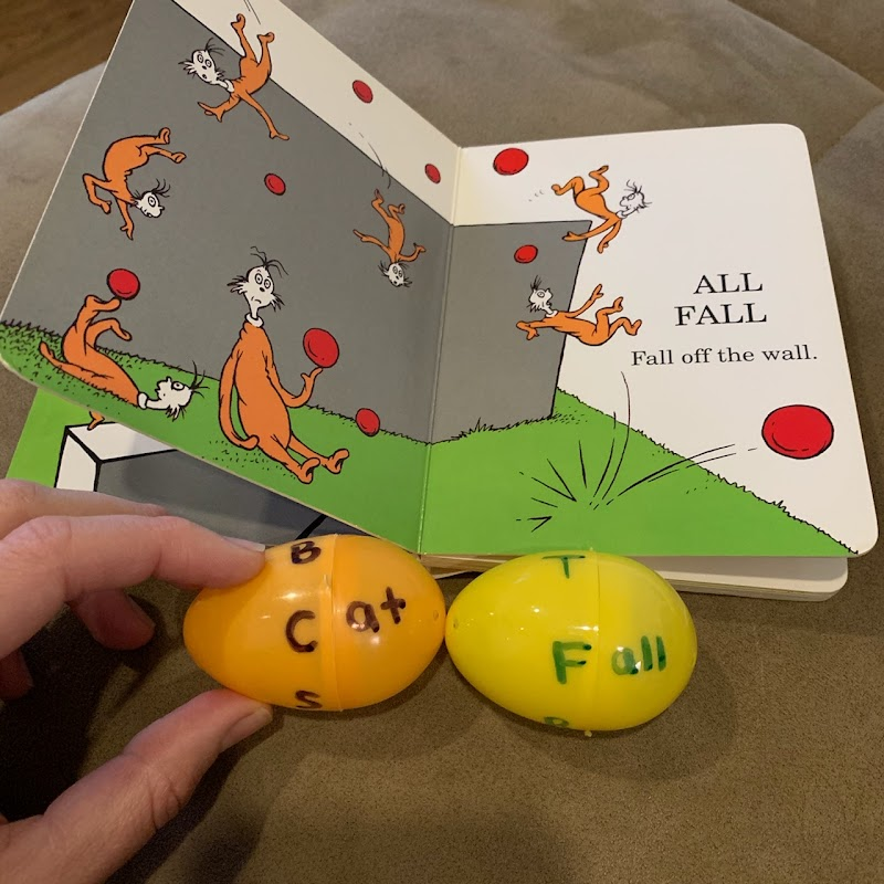 Rhyme time with Eggs to help reading
