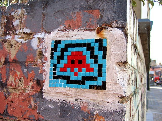 The Space Invaders Alien in Street Art