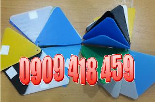 tấm nhựa pp danpla màu xanh 2mm