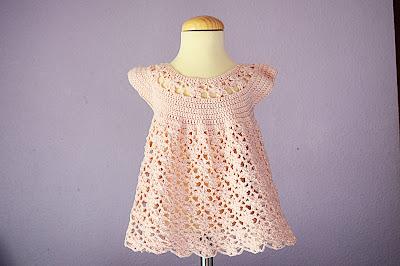 7 - Crochet Imagen Vestido rosa a crochet y ganchillo Majovel Crochet
