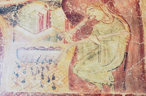 Natività, Cappella del Castel d'Appiano, Mangiatrice di canederli