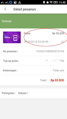 Bukti Pembayaran Pulsa Gratis Money Locker