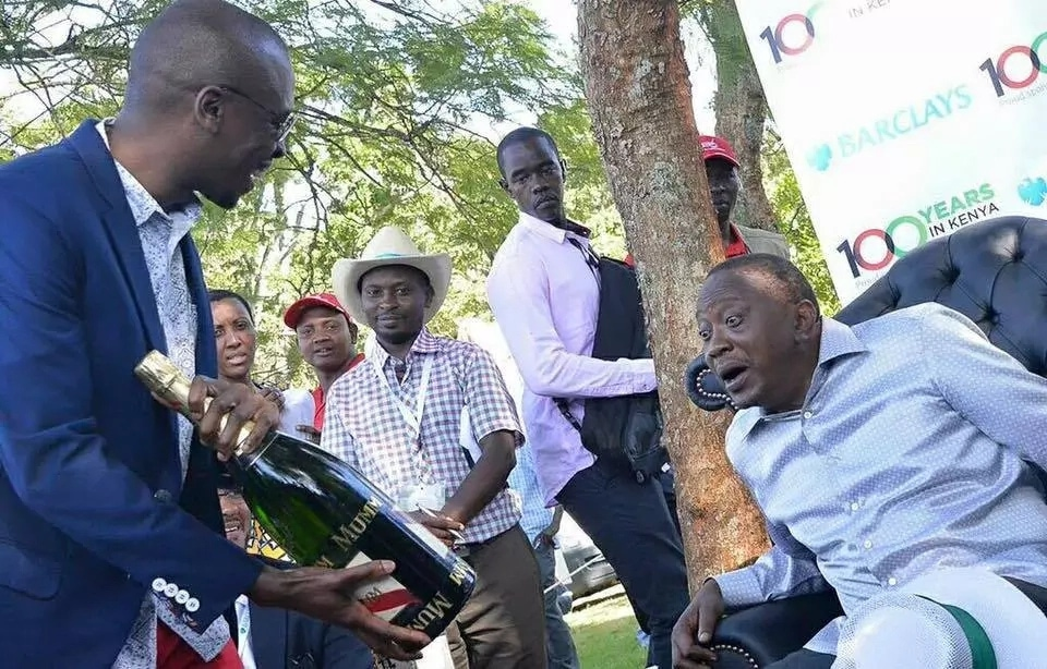 Uhuru And Ruto Splash Sh3.5 Million At A Party In Westlands Drinking Keg Bang