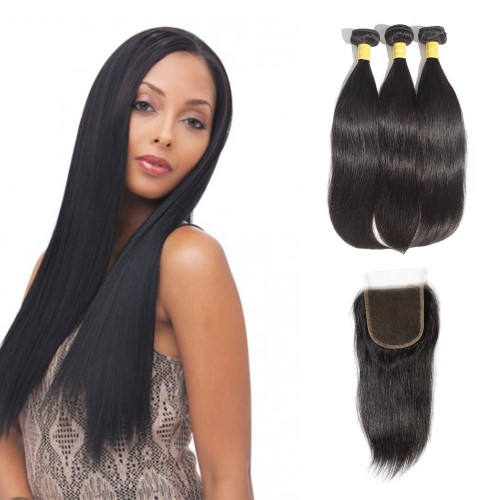 USA Stock Virgin Indian Straight Hair 3 Bundles