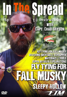 fall musky flies fly tying chad bryson in the spread its freshwater