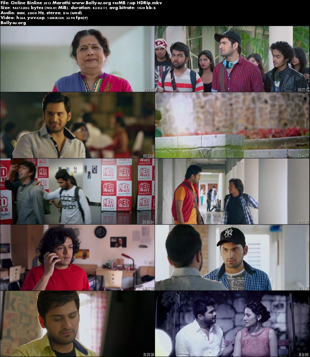 Online Binline 2015 HDRip 350Mb 480p Marathi Movie Worldfree4u