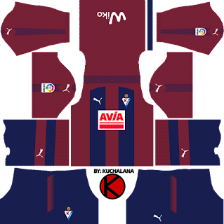 SD Eibar 2017/18 - Dream League Soccer Kits