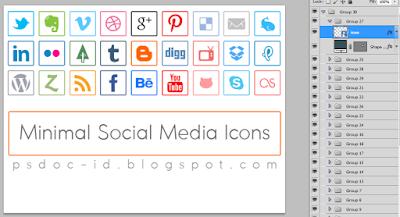 Tapi kita intip dulu apa arti ikon dari web di Search Engine Google Minimal Social Media Icons | Buat desainmu lebih Proffesional!