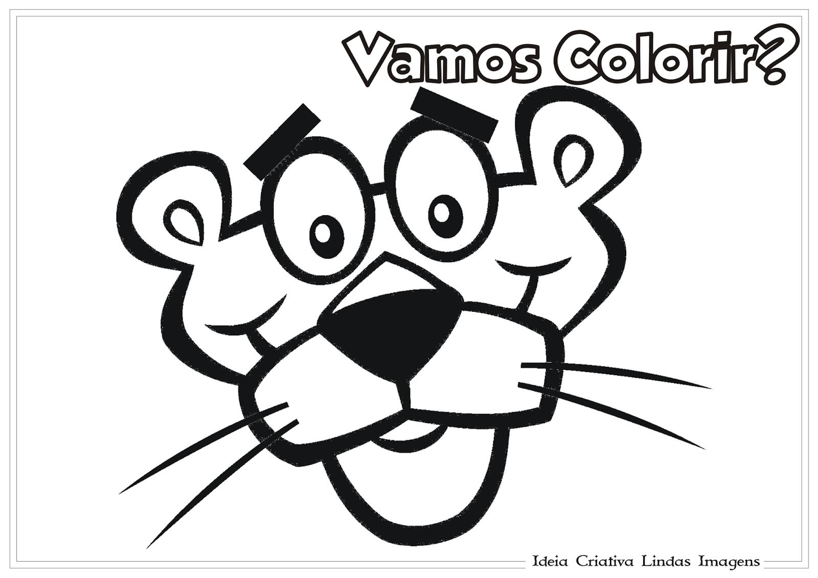 Desenhos Para Colorir Da Pantera Cor De Rosa