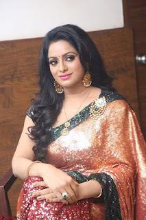 Udaya Bhanu lookssizzling in a Saree Choli at Gautam Nanda music launchi ~ Exclusive Celebrities Galleries 022.JPG