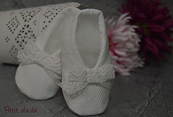 zapatos niña  Pique Blanco petitdudu