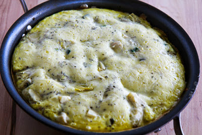 Artichoke-Rosemary Frittata found on KalynsKitchen.com