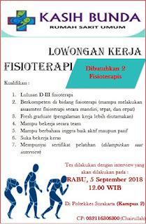 Jurusan Fisioterapi Poltekkes Kemenkes Surakarta Lowongan