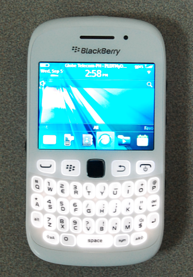 white blackberry curve 9320