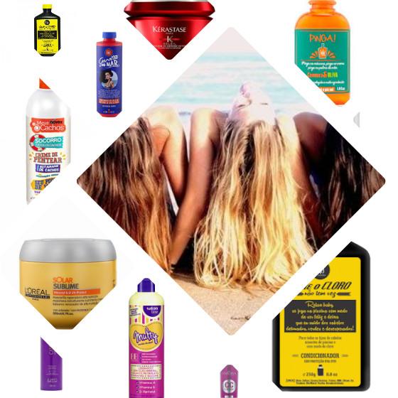 produtos cabelo praia piscina low poo