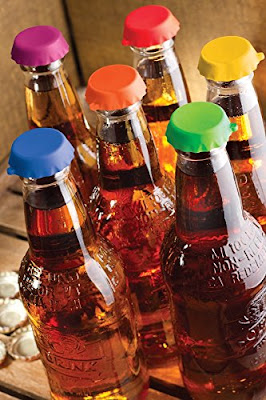 Image: FREEDco Beer and soda Savers | Silicone Rubber Reusable Bottle Caps | Easy On. Easy Off | Rubbery Cap has Good Grip