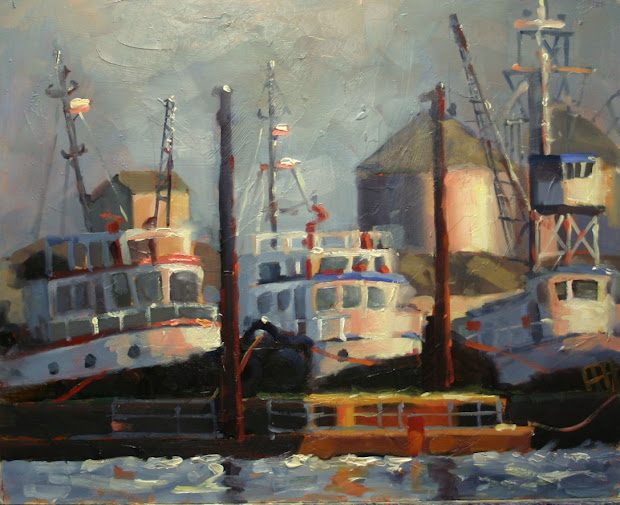 Catherine Jeffrey Fine Art Tugs And Industry Hamilton