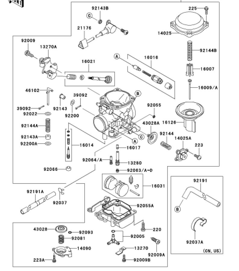Carb on Harley Cv Carb Exploded View