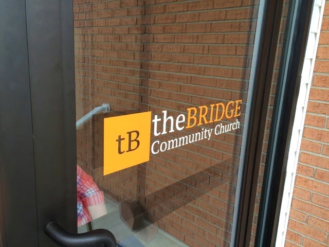 The Bridge Community Church Door Decals | Banners.com