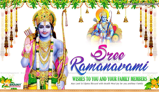 happy Srirama Navami greetings in English, best trending Srirama Navami hd wallpapers with Quotes in English