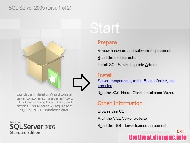 Hướng dẫn cài SQL server 2005