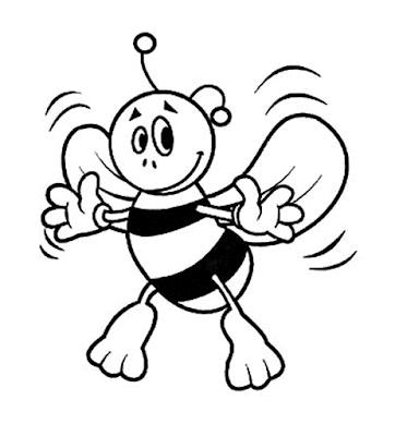 Gambar Mewarnai Lebah - 10