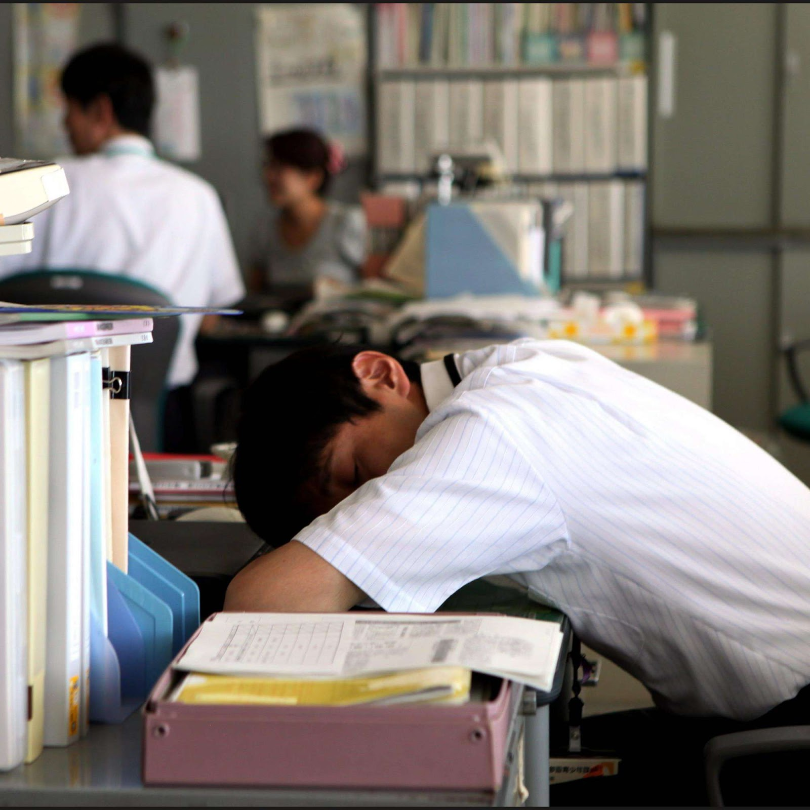 Image result for japan sleeping at work