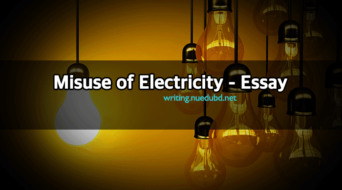 Misuse of Electricity Essay