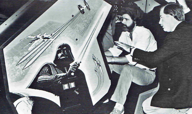 George Lucas getting instructions on how to blow up the Death Star