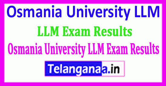 Osmania University LLM Exam Results