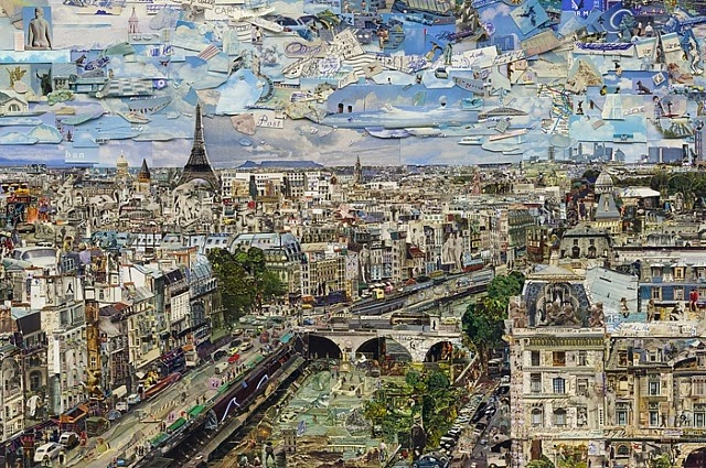 Vik Muniz Paris Postcard (Pictures from Nowhere), 2012