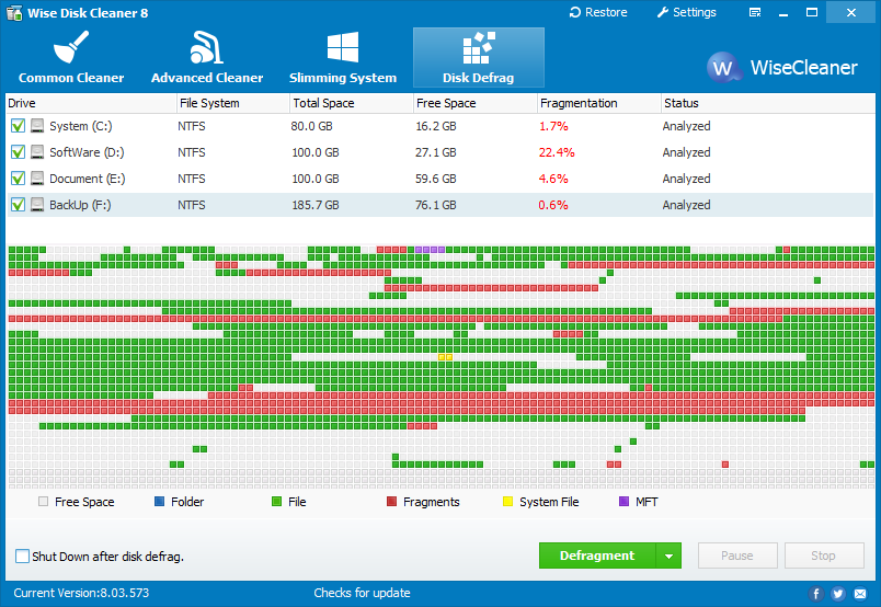 Wise Disk Cleaner Free 10.3.1 Build 782 - Scarica gratis ...