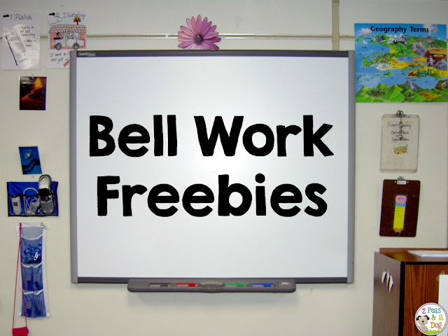 Bell work is a great classroom management tool because it gets your students focused and on task when they walk into the room.