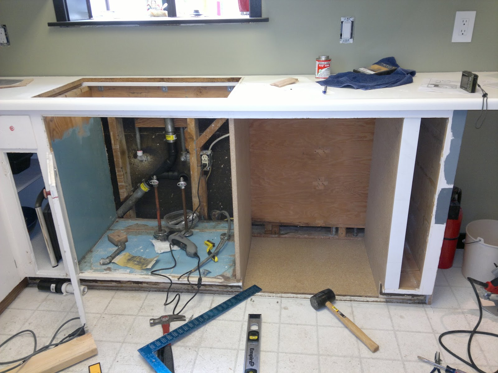 install a dishwasher in an existing kitchen cabinet | www ...