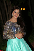 Nikki Galrani in Green Skirt  Top at Marakathamani music launch ~  Exclusive (75).JPG