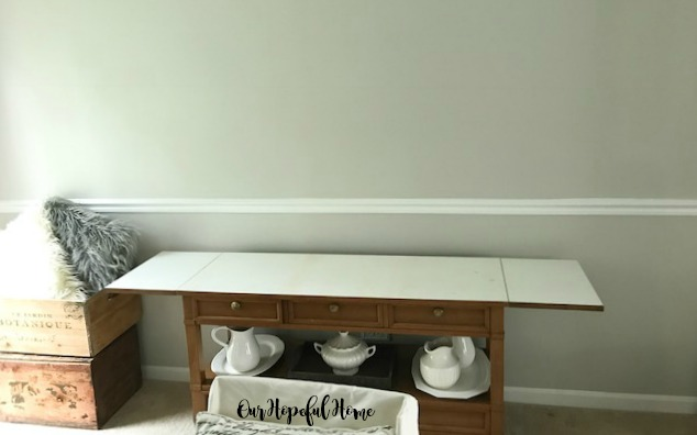 modern farmhouse dining room buffet ironstone