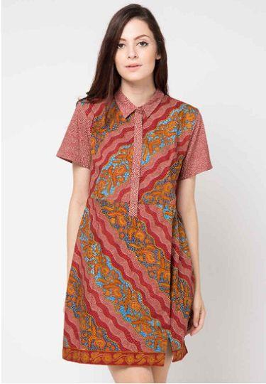 Model Dress Batik Wanita Gemuk Gamis Brokat