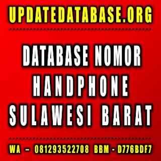 Jual Database Nomor Handphone Sulawesi Barat