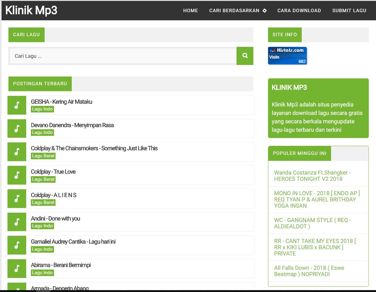 Cara Download lagu di gratis - Klinikmp3.com