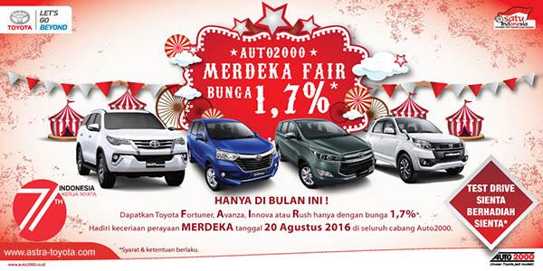 Promo Toyota Merdeka Agustus 2016